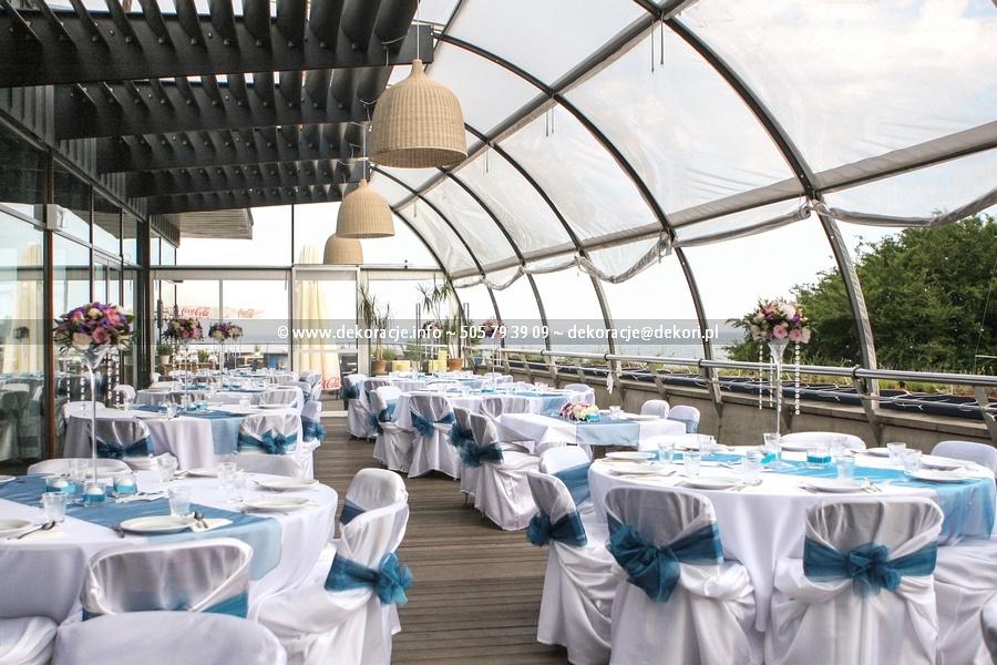 białe pokrowce na ślub wesele Gdynia