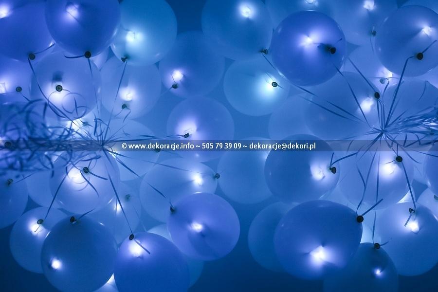 świecące balony LED z helem wesele ślub