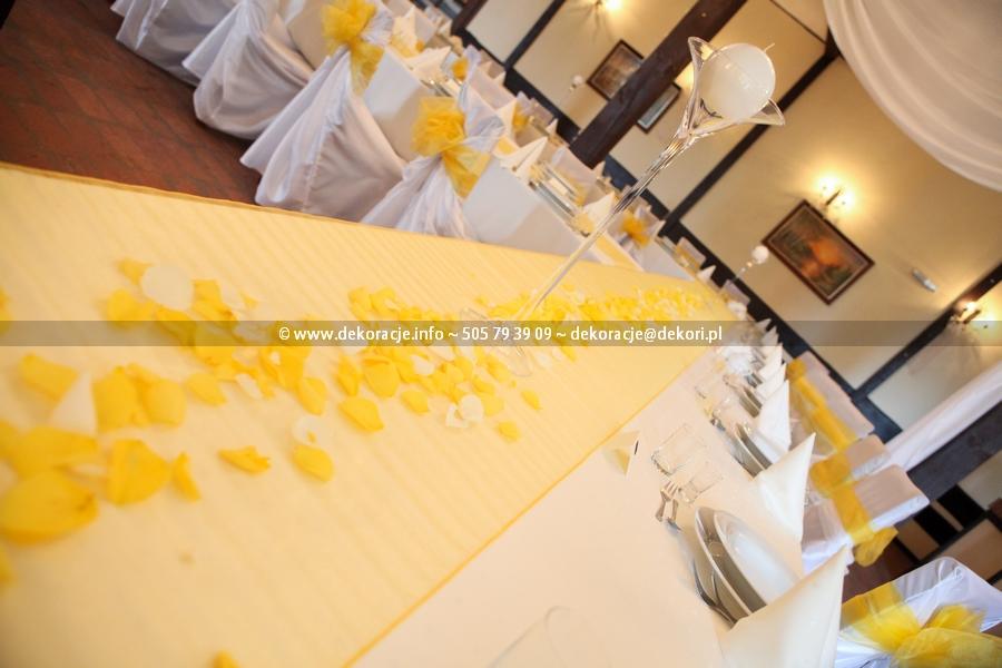 żółty wystrój sali Magnat Bojano