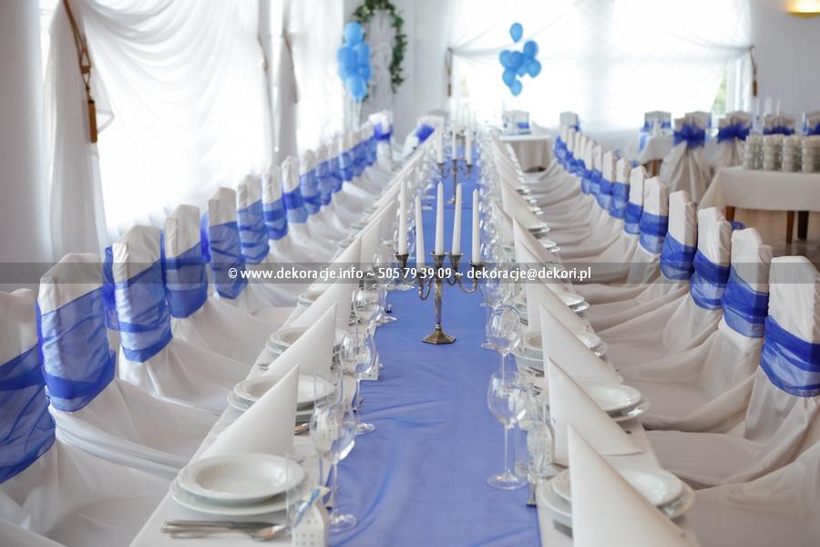 białe pokrowce ślub wesele Gdynia Gdańsk