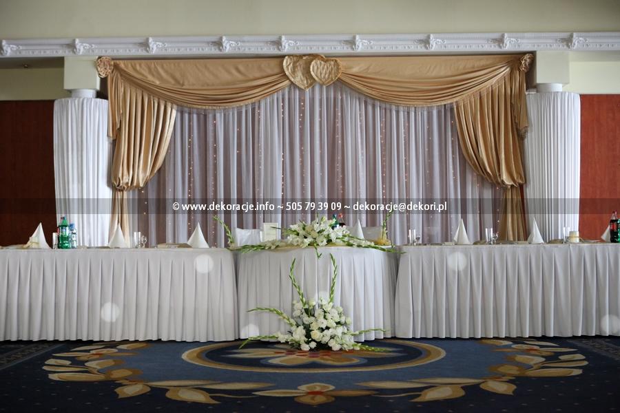dekoracja ślubna faltom rumia