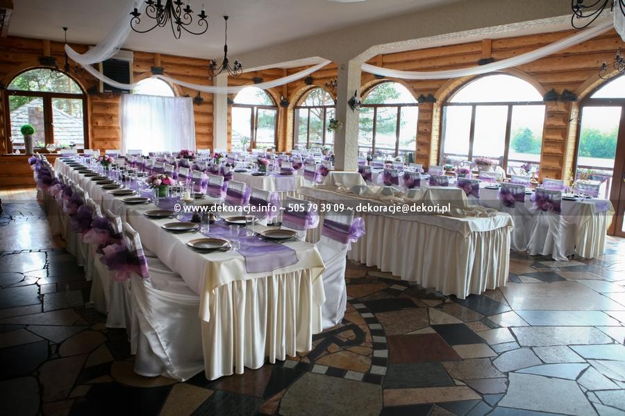 fioletowa dekoracja na slub w Adler