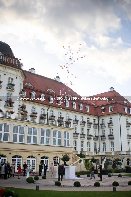 Karton z balonami ślub wesele