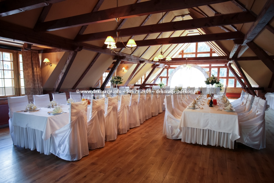 weselne dekoracje sali dolina charlotty