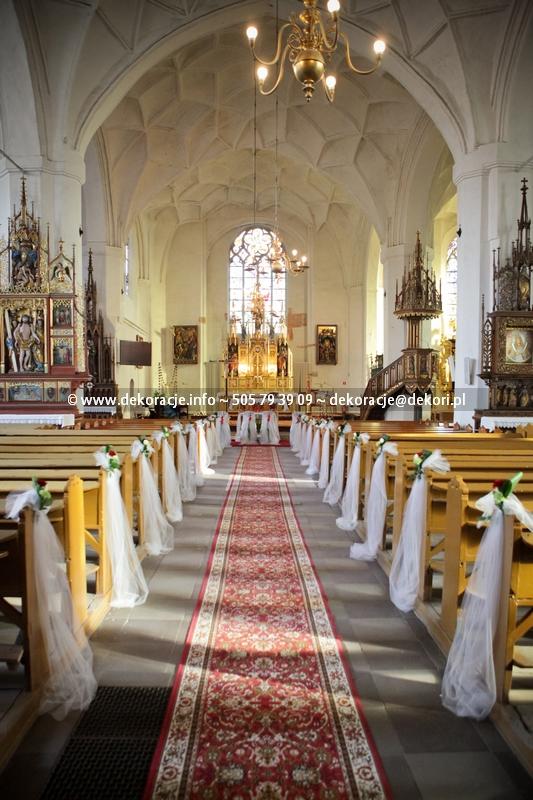 dekoracja kościoła w Malborku