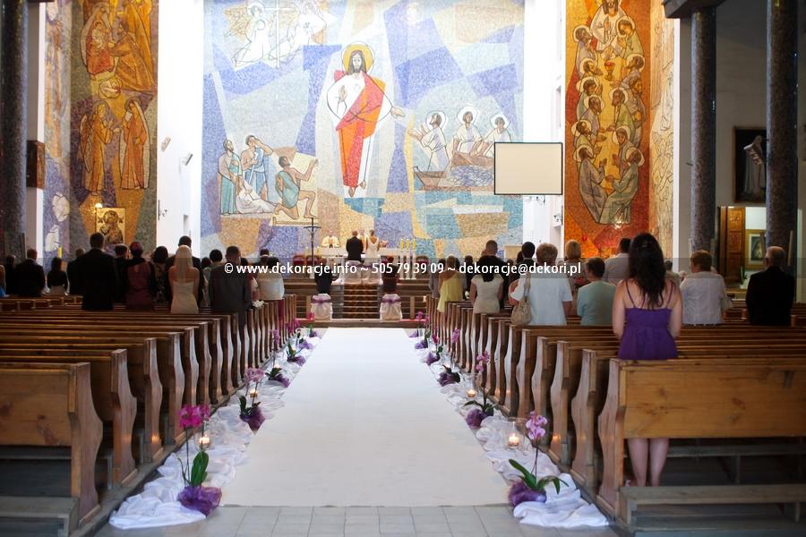 dekoracja ślubna kościoła gdynia