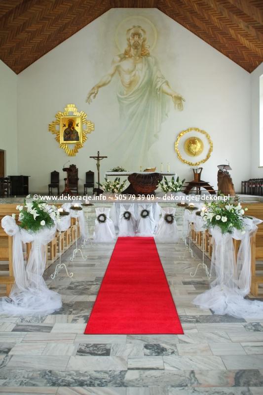 dekoracja ślubna kościoła Jurata