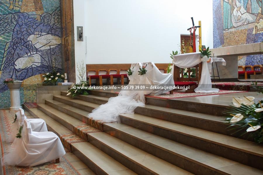 pokrowce na ślub w kościele Gdynia