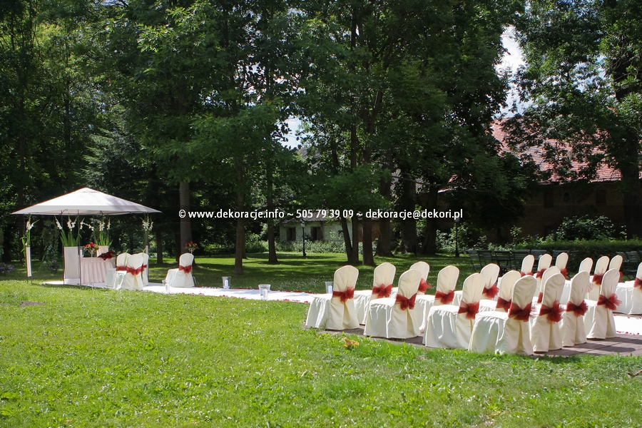 ślub w plenerze w Leźnie