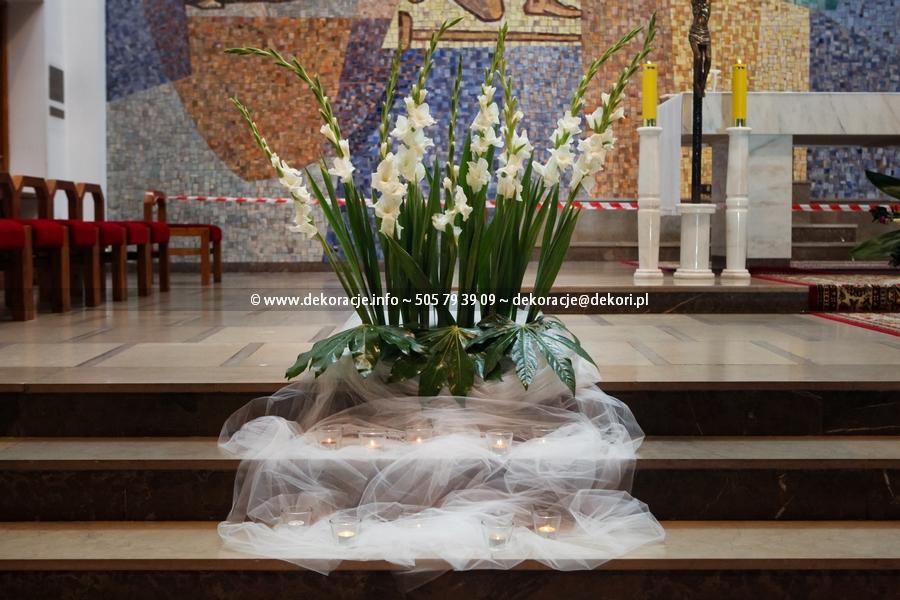 wystrój ślubny kościoła Gdynia