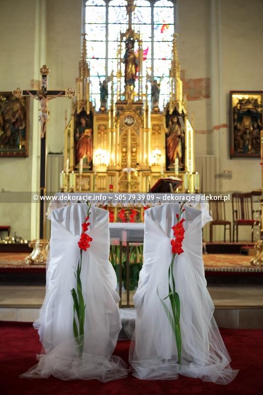 wystrój ślubny kościoła Malbork