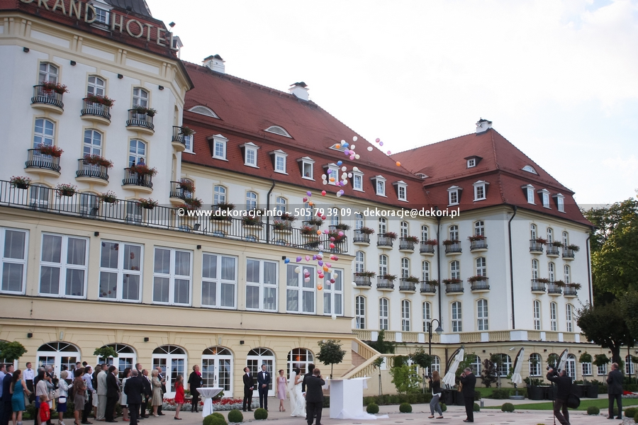 karton z balonami na ślub Gdynia