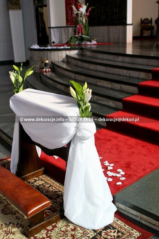 dekoracja na ślub w kościele w Gdyni