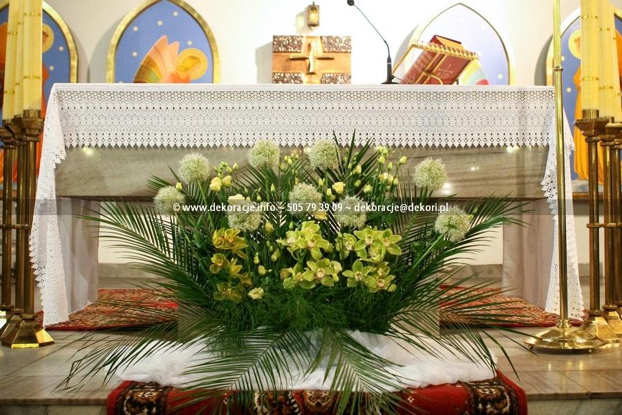 dekoracja ślubna kościoła Sopot