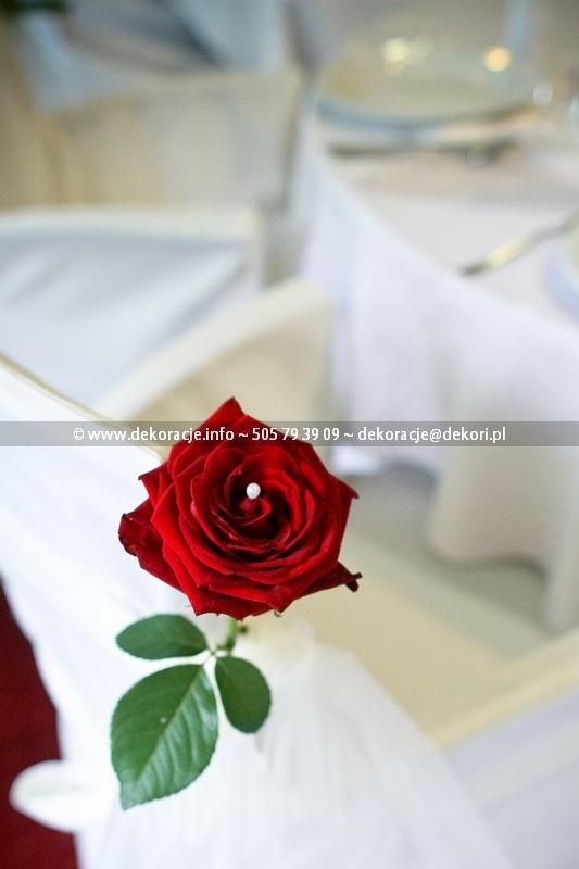 dekoracja ślubna sali falko