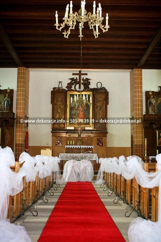 dekoracja ślubna w kościele franciszkanów Gdynia