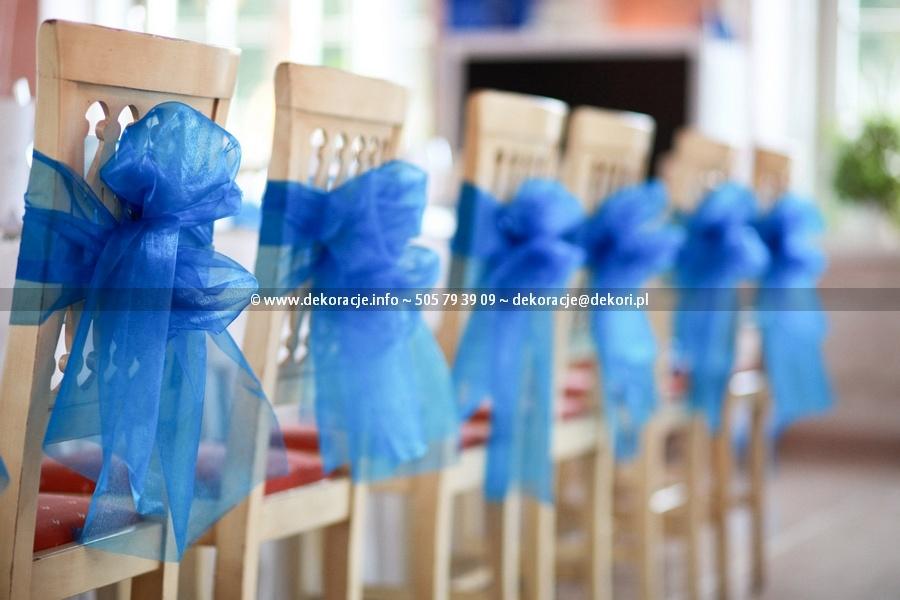 kokardy niebieskie ślub