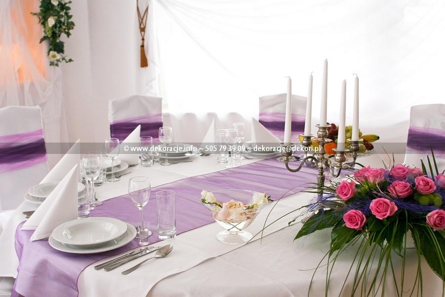 wystrój sali na wesele lukullus