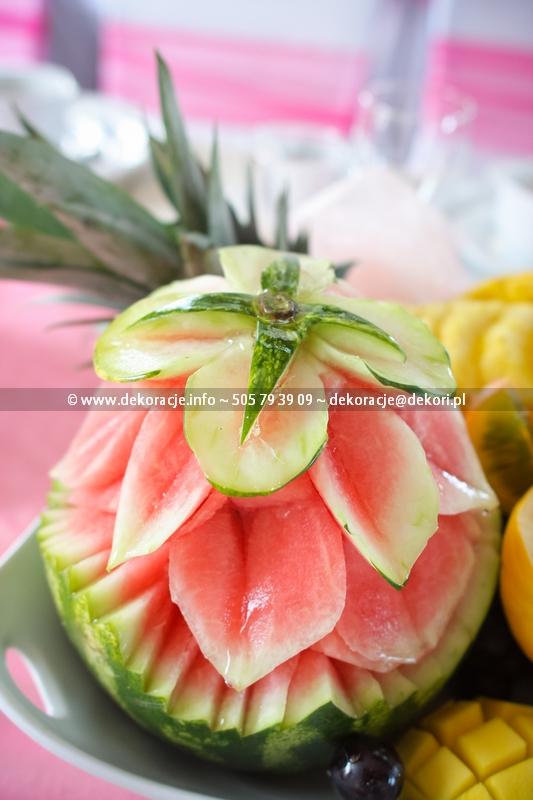 carving owocowy na weselu Gdynia
