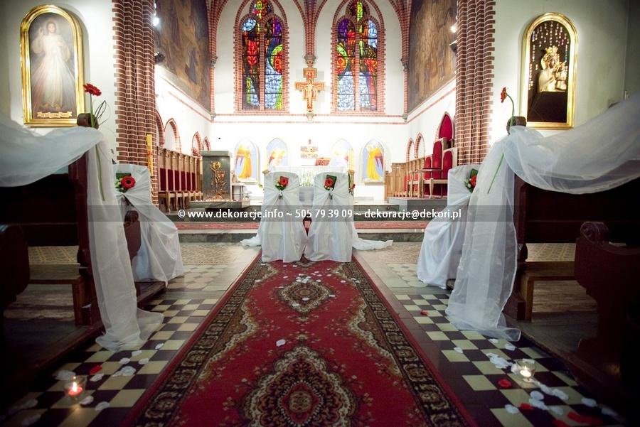 dekoracja ślubna kościoła św.Jerzego w Sopocie
