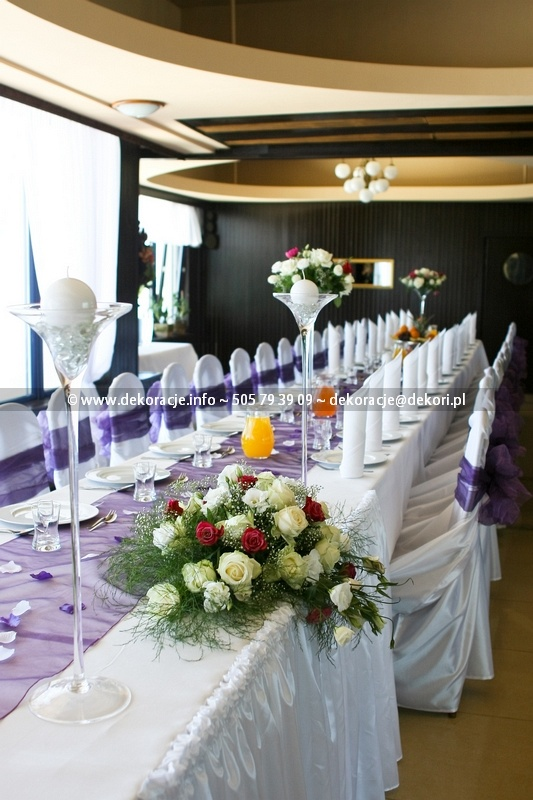 dekoracja ślubna sali róża wiatrów