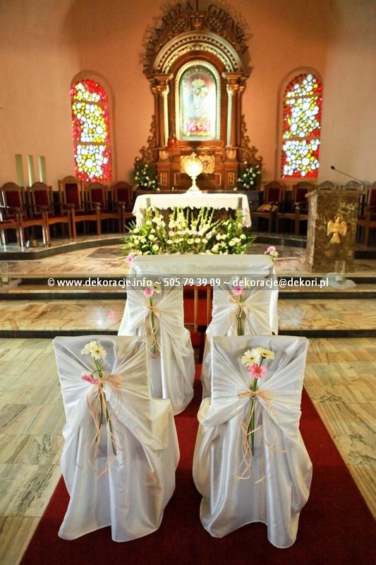 dekoracje ślubne kościół NMP Gdynia