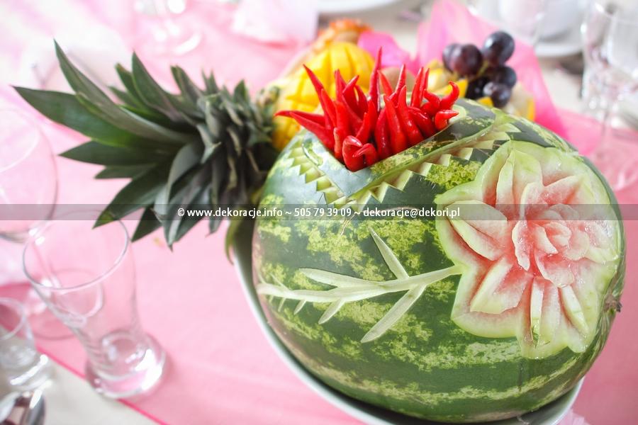 rzeźby z owoców na ślub Gdynia