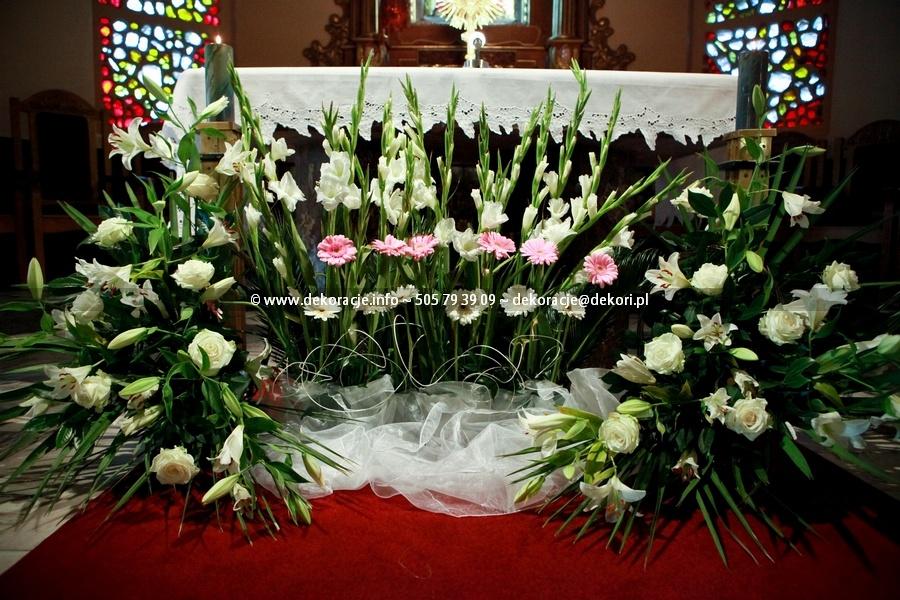 wystrój ślubny w kościele Gdynia