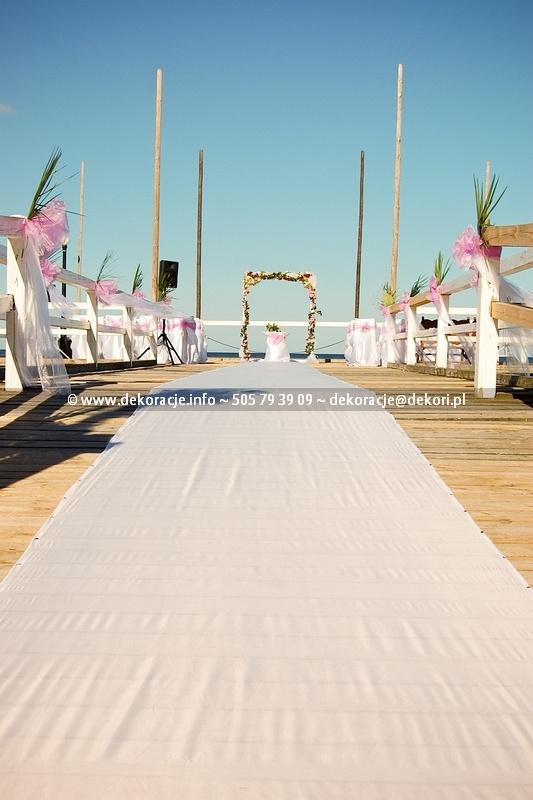 dekoracja ślub plenerowy
