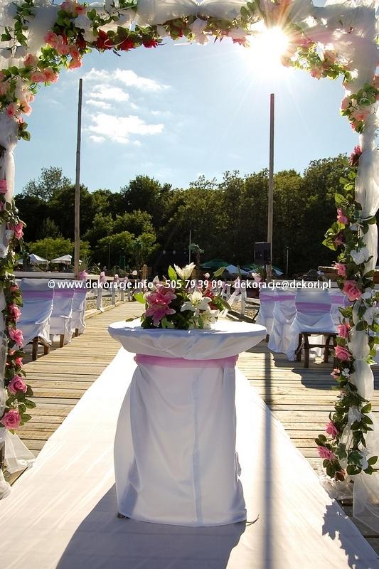 dekoracje ślub plener Gdańsk