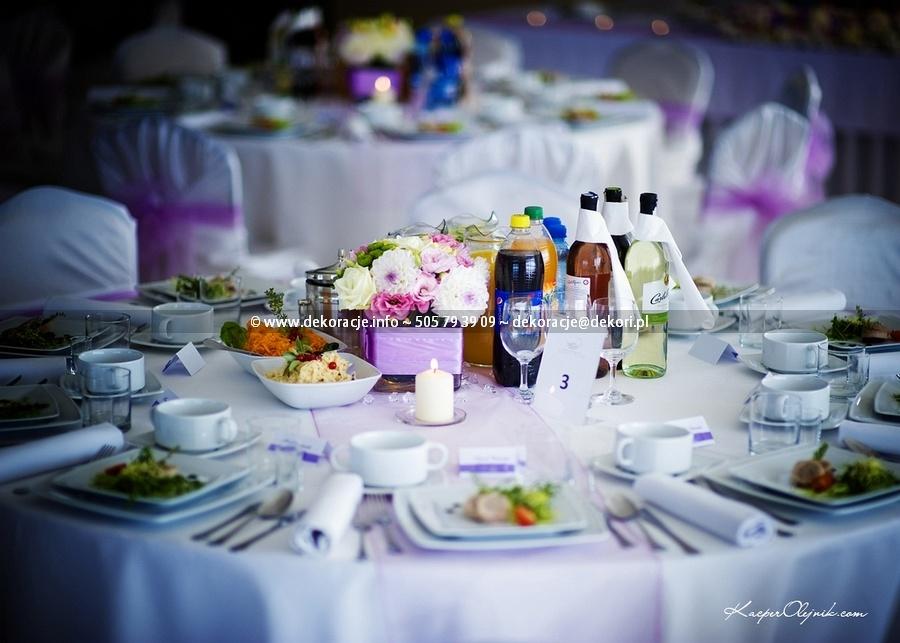dekoracja ślubna sali złoty staw