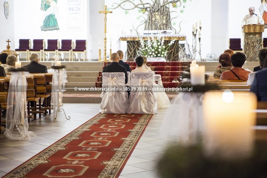 dekoracje ślubne kościoła na lnianej