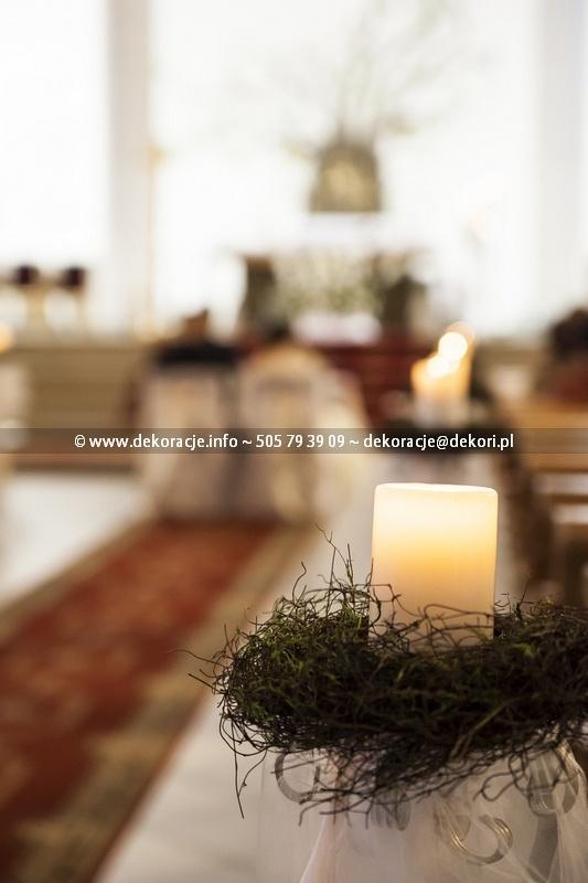 ślubny wystrój kościoła gdynia