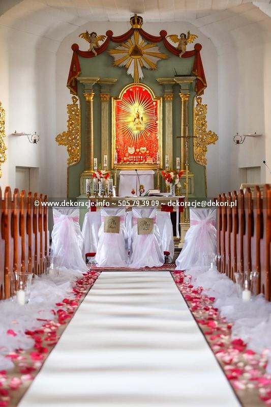 dekoracja ślubna kościoła Sianowo
