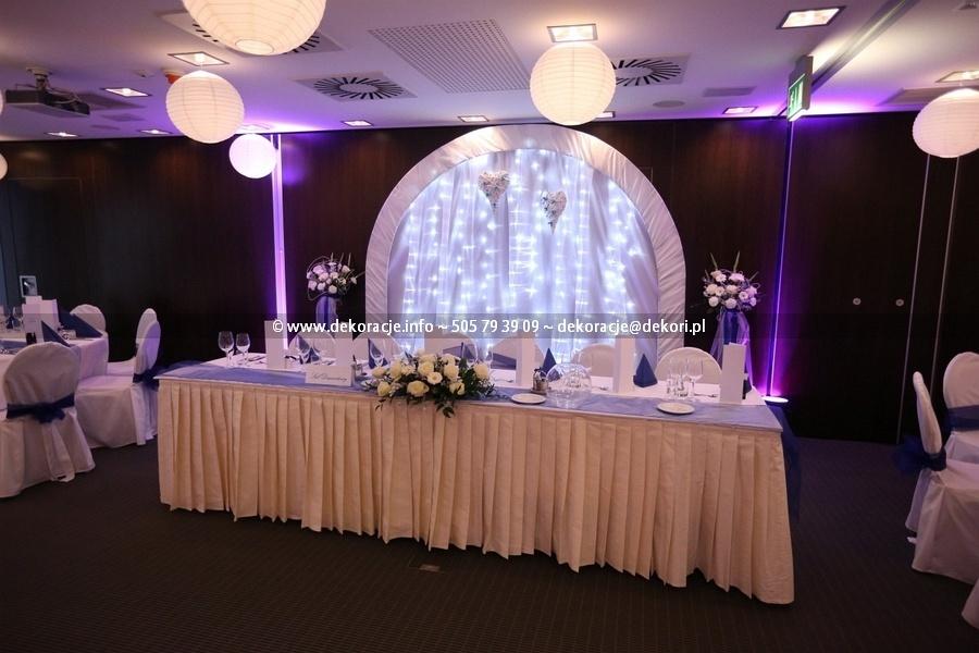 dekoracja sali w hotelu Qubus