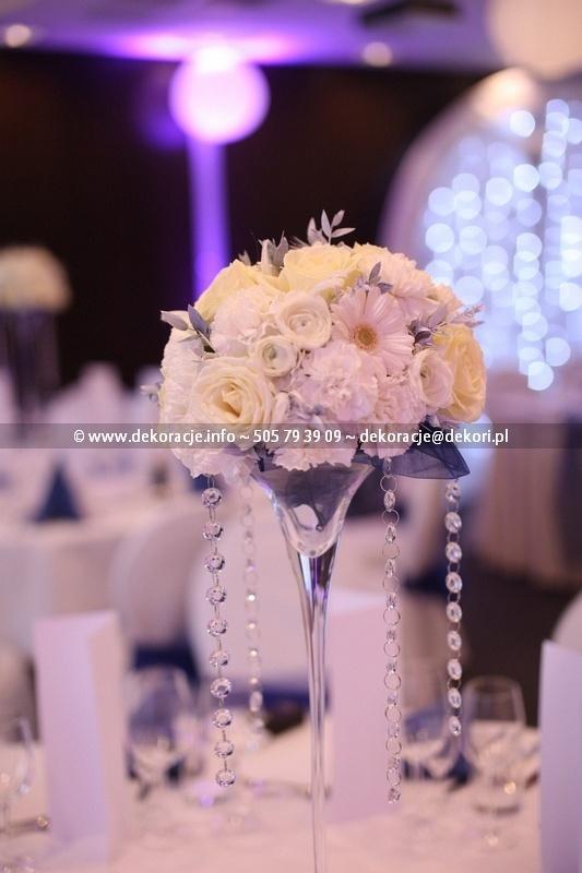 dekoracja ślubna sali