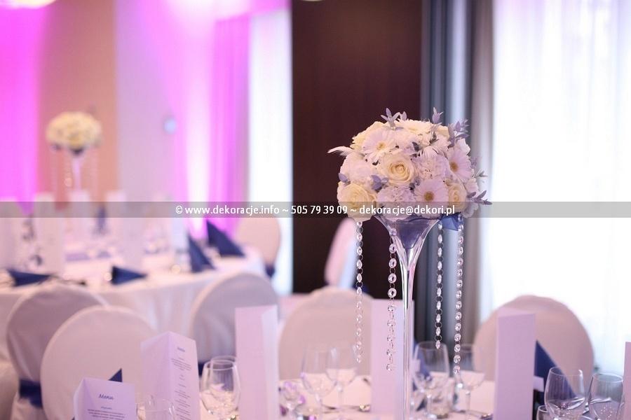 dekoracja stołu na ślub
