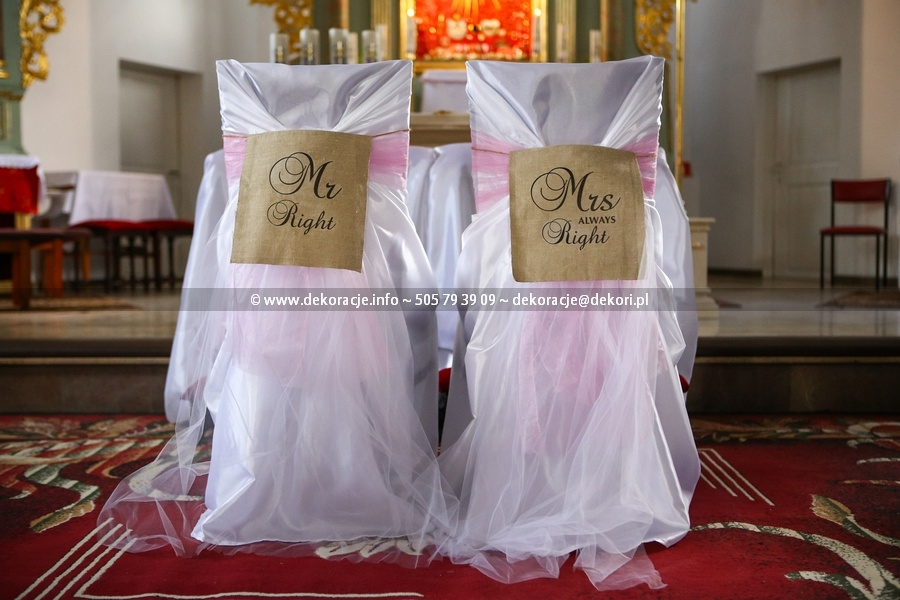dekoracje ślubne sianowo