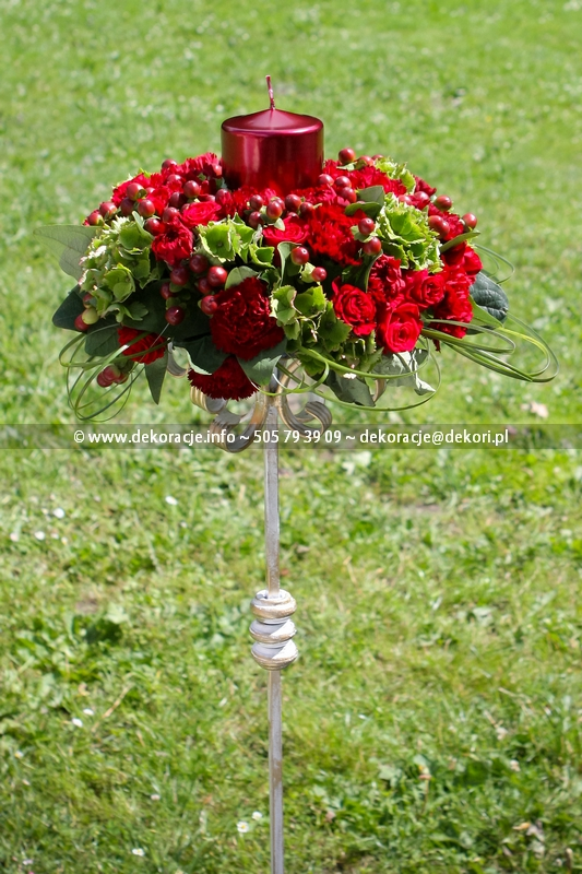 dekoracja ślubu w plenerze