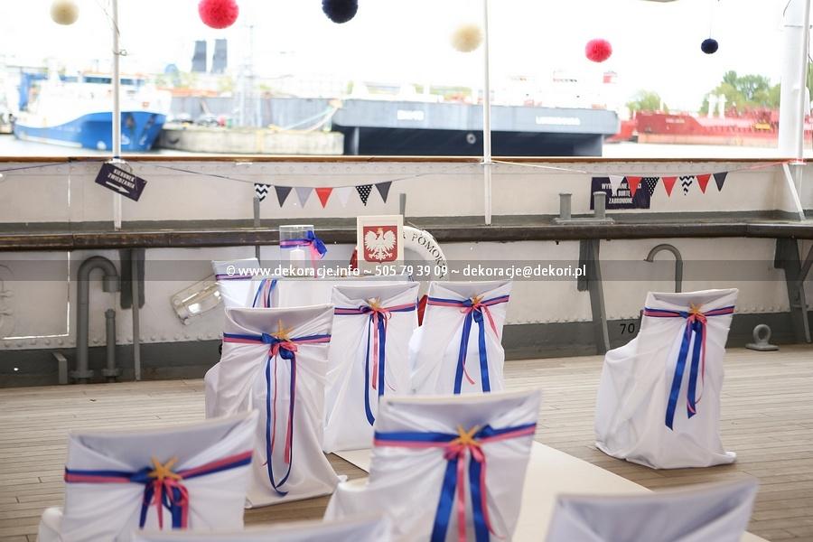 ślub w plenerze na statku