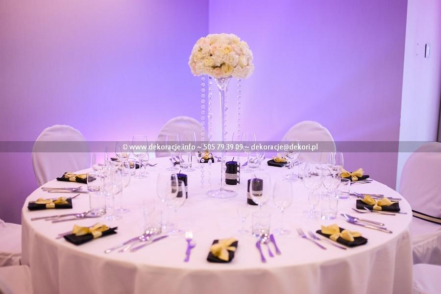 dekoracja serwetek ślub
