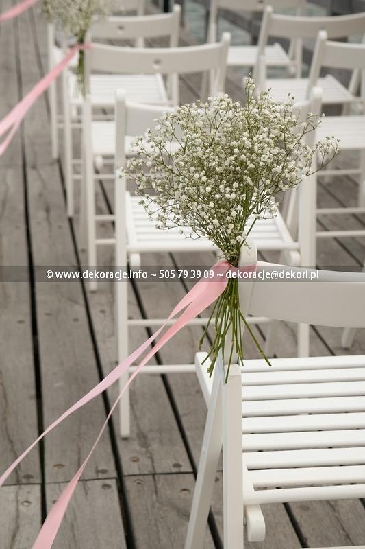 dekoracja ślubna w plenerze Gdynia