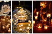 dekoracje świece na stole