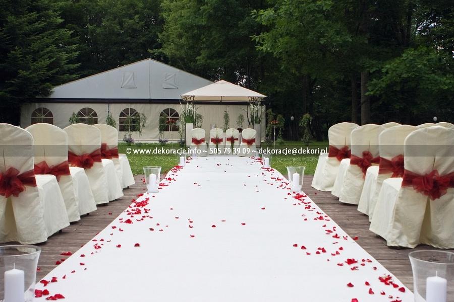 ślub w plenerze dekoracje Gdańsk
