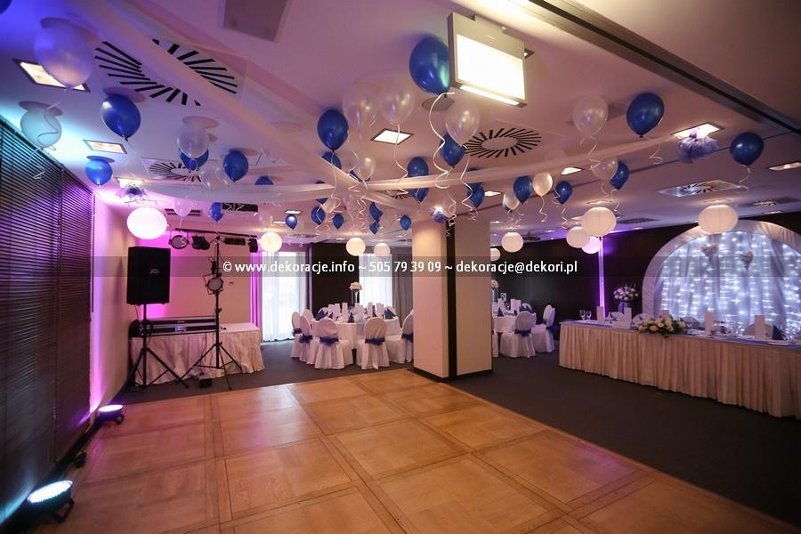 dekoracja sali na wesele Qubus Gdańsk
