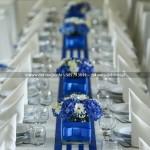 Dekoracja Ślubna Sali Magnat Bojano ~ Chabrowy Kolor Przewodni