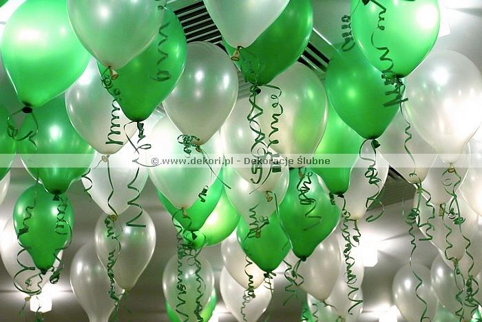 dekoracje balonowe na sylwestra