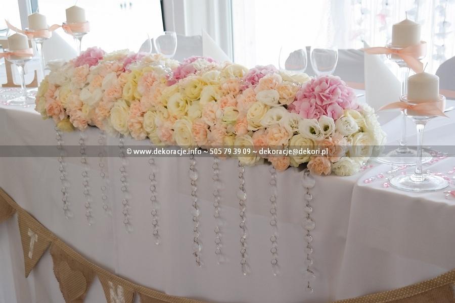 Bukiet ślubny na stół Młodej Pary