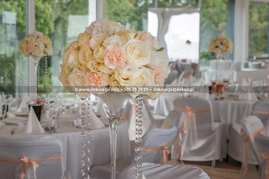 bukiety kremowe łososiowe na ślub gdynia
