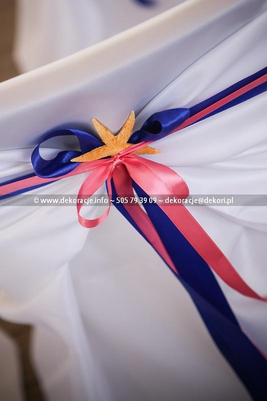 dekoracje ślubne rozgwiazda